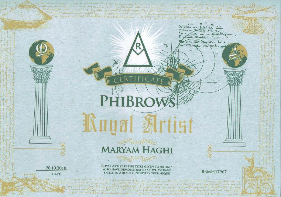 Certificato PhiBrows Maryam 925x650